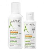 A-Derma Exomega Control Bálsamo Emoliente 400ml + OFERTA A-Derma Exomega Control Gel Lavante 200ml