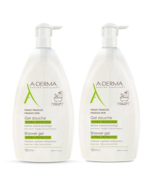 A-Derma Gel Duche Hidra Protetor 2x750ml