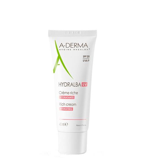 A-Derma Hydralba Creme Hidratante UV Rico 40ml