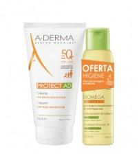 A-Derma Protect AD Creme SPF50+ 150ml + OFERTA Exomega Óleo Duche 100ml
