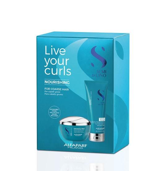 Alfaparf Semi Di Lino Kit Live Your Curls Nourishing