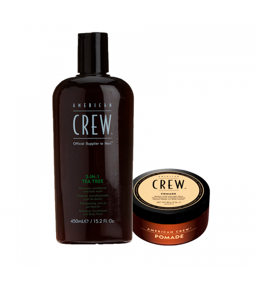 American Crew Coffret 3-in-1 Tea Tree & Pomade