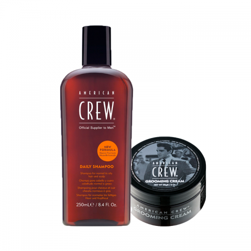 American Crew Coffret Daily Shampoo & Grooming Cream