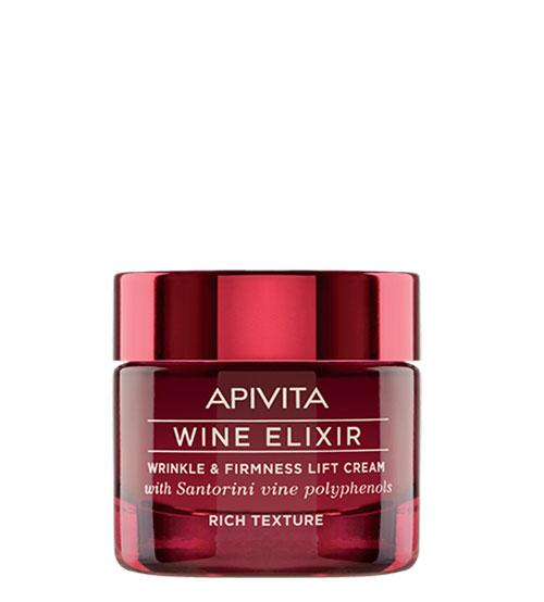 Apivita Wine Elixir Creme Antirrugas & Refirmante Com Efeito Lifting Textura Rica 50ml