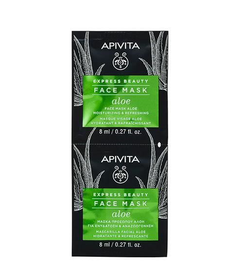 Apivita Express Beauty Máscara Hidratante de Aloé 2x8ml