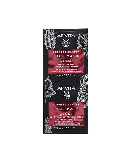 Apivita Express Beauty Máscara Antirrugas & Refirmante de Uva 2x8ml