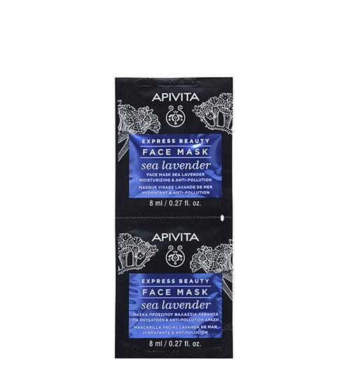 Apivita Express Beauty Máscara Hidratante & Antipoluição de Lavanda-do-Mar 2x8ml