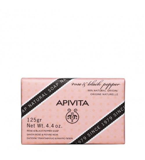 Apivita Sabonete Natural com Rosa e Pimenta Preta 125g