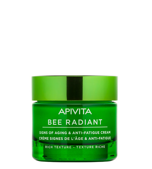 Apivita Bee Radiant Creme Sinais de Envelhecimento & Antifadiga Textura Rica 50ml