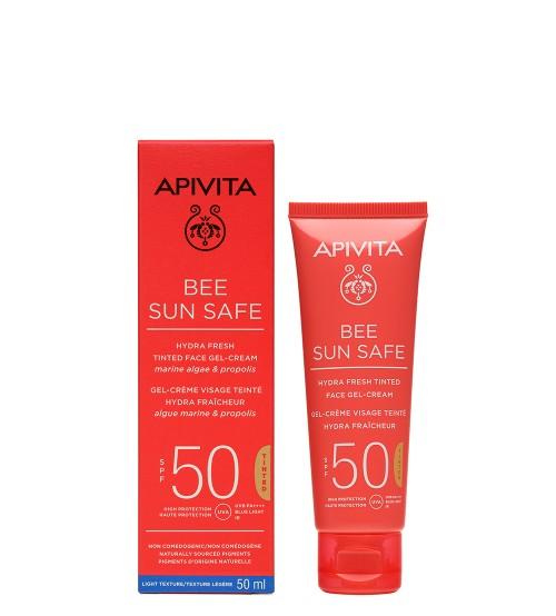 Apivita Bee Sun Safe Gel-Creme Hidra Refrescante Com Cor SPF50 50ml