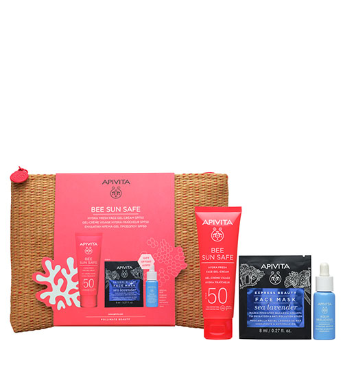 Apivita Bee Sun Safe Kit Hydra Fresh Face Gel-Cream SPF50 50ml
