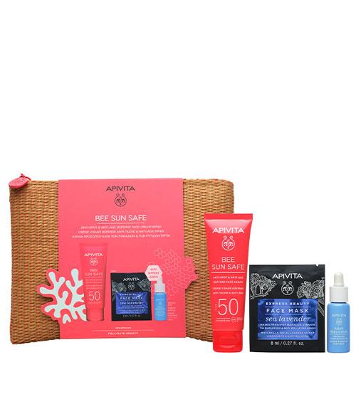 Apivita Bee Sun Safe Kit Anti-Spot & Anti-Age Defense Face Cream SPF50 50ml