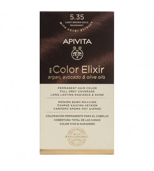 Apivita My Color Elixir 5.35 Ouro Mogno Castanho Claro