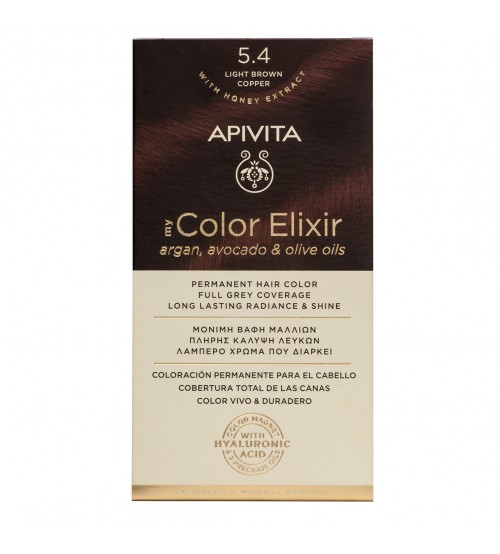 Apivita My Color Elixir 5.4 Castanho Claro Acobreado