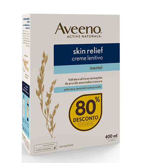 Aveeno Skin Relief Creme Lenitivo Mentol 2x200ml