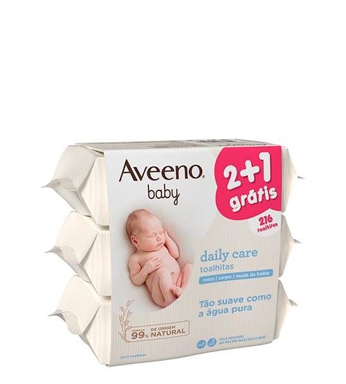 Aveeno Baby Daily Care Toalhitas 3x72 Unidades