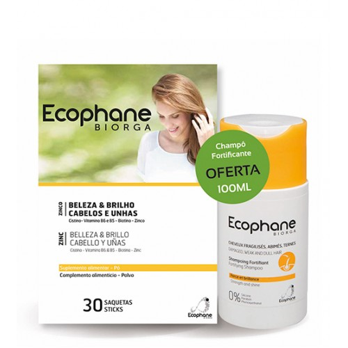 Ecophane Biorga Suplemento Alimentar 30 Saquetas + OFERTA Shampoo Fortificante 100ml