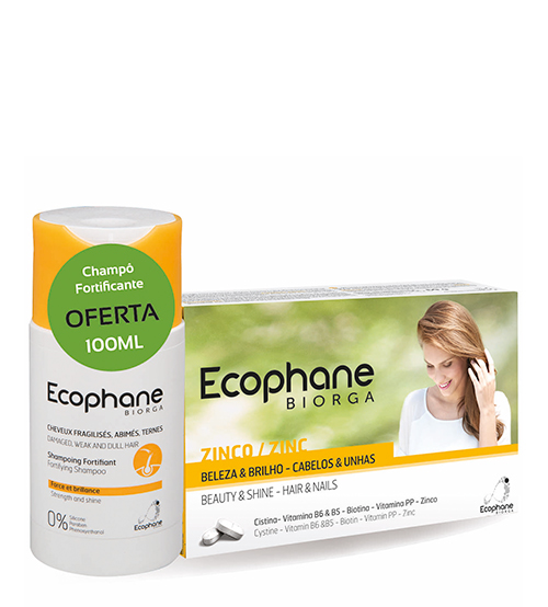 Ecophane Biorga Suplemento Alimentar 60 Comprimidos + OFERTA Shampoo Fortificante 100ml