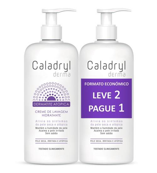 Caladryl Dermatite Atópica Creme de Lavagem Hidratante 300ml + OFERTA 300ml