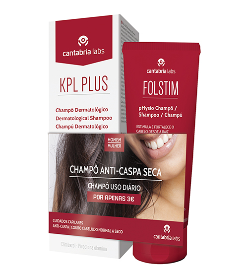 KPL Plus Shampoo Anti-Caspa e Anti-Seborreico 200ml + Folstim Physio Shampoo 200ml