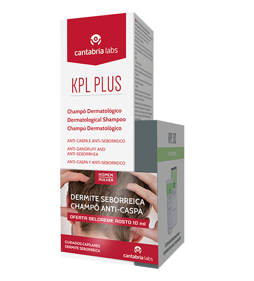 KPL Plus Shampoo Anti-Caspa e Anti-Seborreico 200ml + OFERTA KPL DS Gelcreme Rosto 10ml