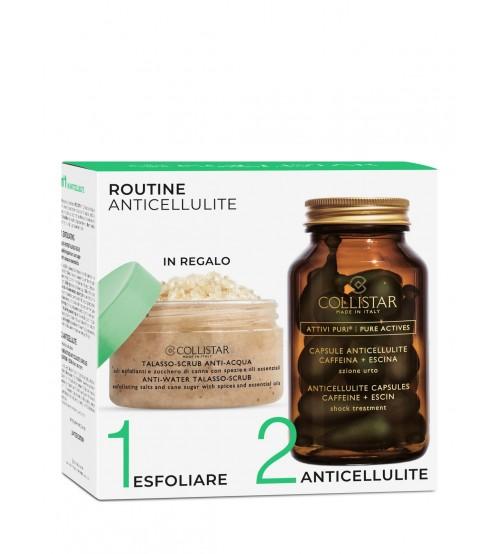 Collistar Coffret Pure Actives Anticellulite 14 Cápsulas + Anti-Water Talasso 150g