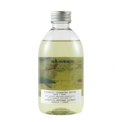 Davines Authentic Cleansing Nectar Hair And Body Oil Shampoo 280ml