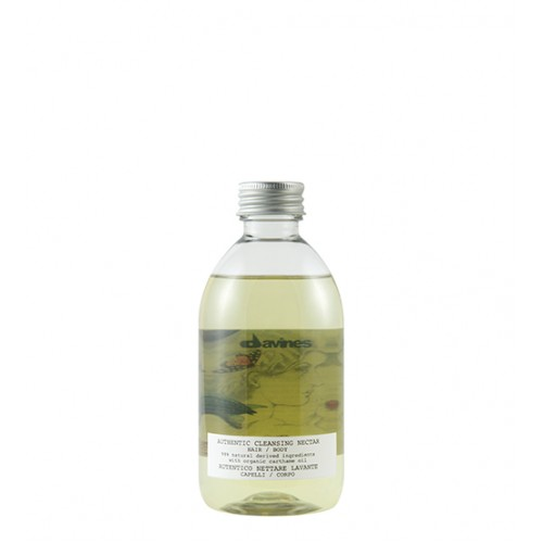 Davines Authentic Cleansing Nectar Hair And Body Oil Shampoo 90ml