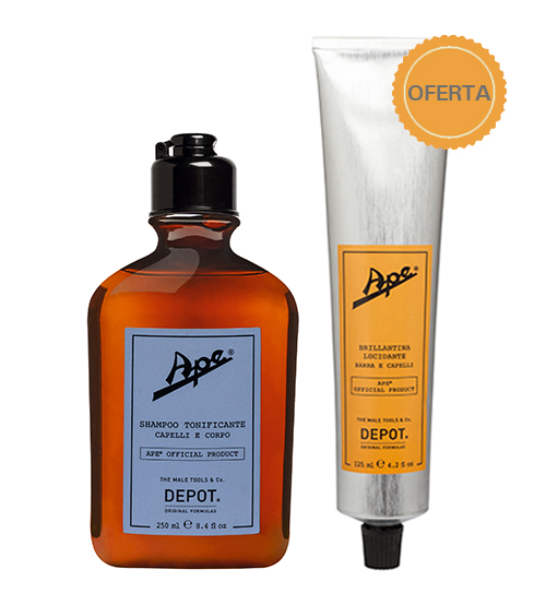Depot Ape Refreshing Shampoo 250ml + OFERTA Brilhantina 125ml