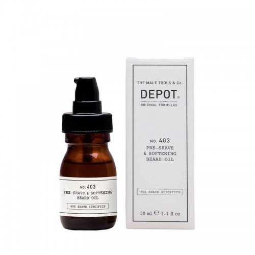Depot Nº 403 Pre-shave & Softening Beard Oil Sweet Almond 30ml