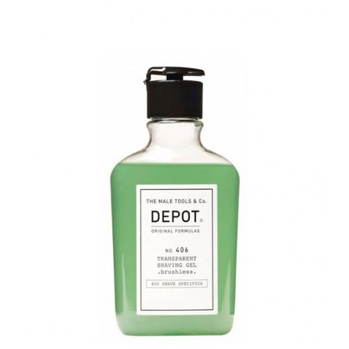 Depot Nº 406 Transparent Shaving Gel - Brushless 200ml