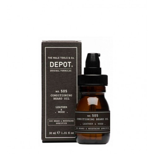 Depot Nº 505 Conditioning Beard Oil Leather & Wood 30ml