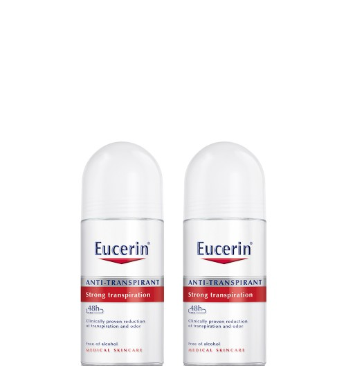 Eucerin Anti-Transpirante Roll-on 48h 2x50ml