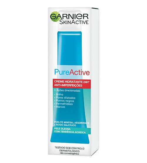 Garnier Pure Active Creme Hidratante 24h Anti-Imperfeições 40ml