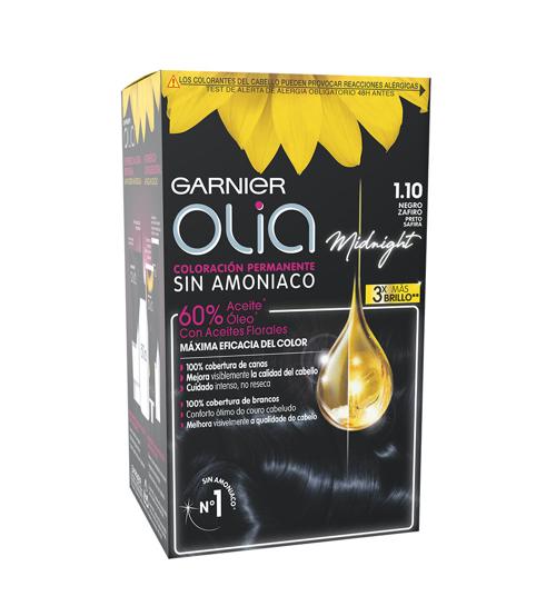 Garnier Olia Black Light Preto Safira 1.10