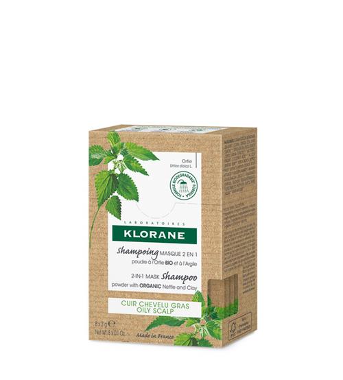 Klorane Shampoo Máscara 2 em 1 em Pó 8x3g