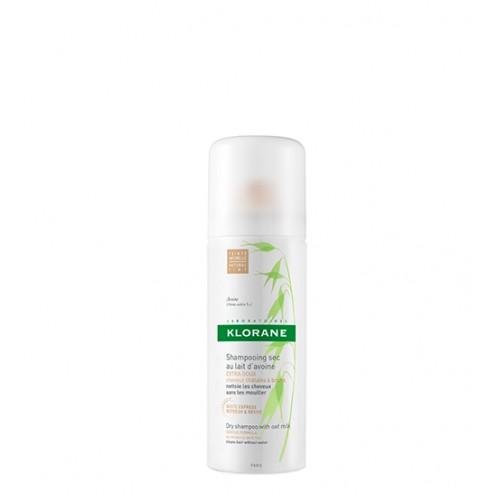 Klorane Capilar Shampoo Seco Leite de Aveia Cabelo Castanho 50ml