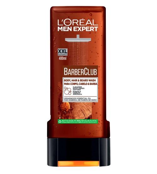 L'Oréal Men Expert Barber Club Gel de Banho Corpo, Cabelo & Barba 400ml