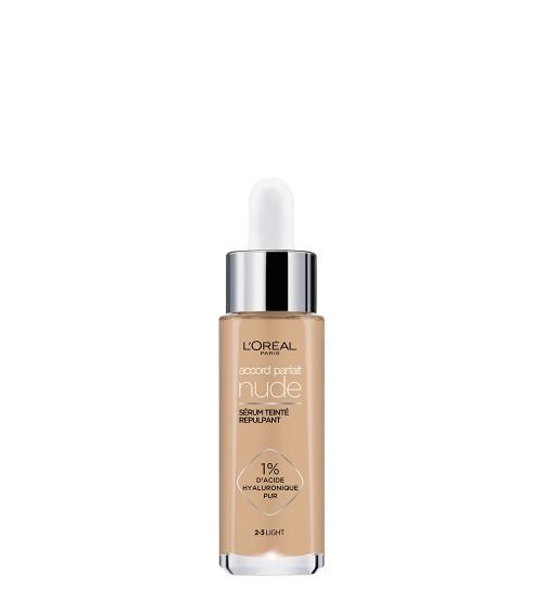 L'Oréal Accord Parfait Nude Sérum Com Cor 2-3 Light 30ml