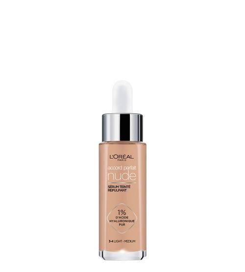 L'Oréal Accord Parfait Nude Sérum Com Cor 3-4 Light Medium 30ml