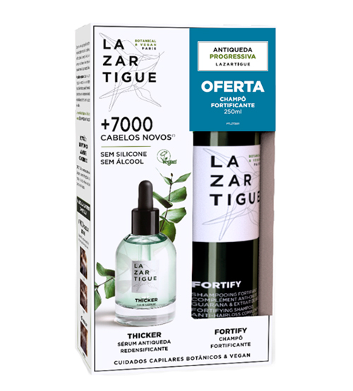 Lazartigue Thicker Sérum Redensificante 50ml + OFERTA Shampoo Fortify 250ml