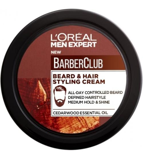 L'Oréal Men Expert Barber Club Creme Fixação Barba e Cabelo 75ml