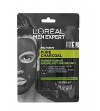 L'Oréal Men Expert Pure Charcoal Máscara de Tecido 30g