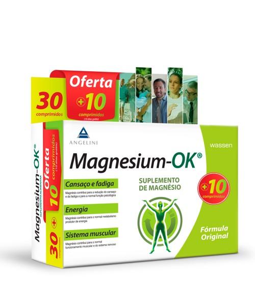 Magnesium-OK Suplemento de Magnésio 30 Comprimidos + OFERTA 10