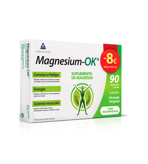 Magnesium-OK Suplemento de Magnésio 90 Comprimidos