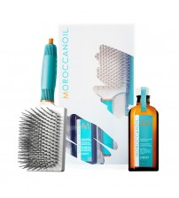 Moroccanoil Kit Tratamento Light 100ml e Paddle Brush