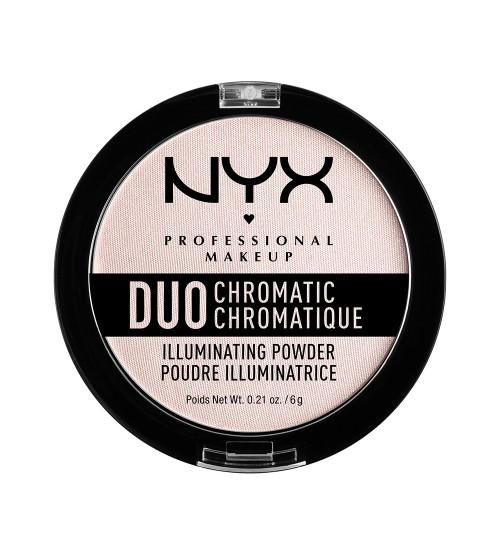 NYX Duo Chromatic Iluminador Em Pó - Snow Rose 6g