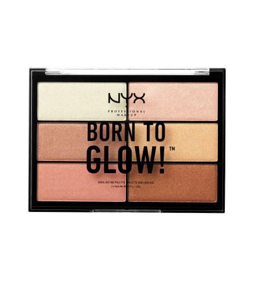 NYX Born To Glow Highlighting Palette 6x4.8g