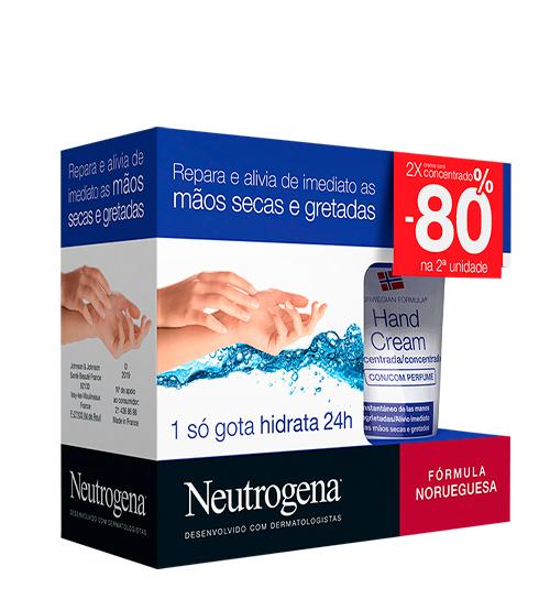 Neutrogena Fórmula Norueguesa Creme Mãos Concentrado Com Perfume 2x50ml