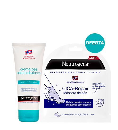 Neutrogena Fórmula Norueguesa Creme Pés Ultra-Hidratante 100ml + OFERTA Máscara Pés CICA-Repair